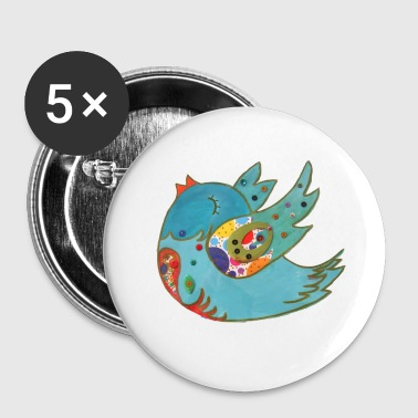Cute happy bird - Small Buttons