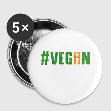 Vegan #vegan Veganism vegetables - Small Buttons