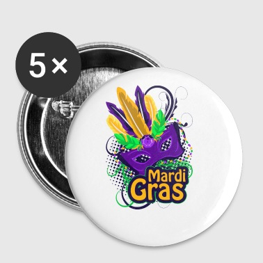 Mardi Gras - Small Buttons