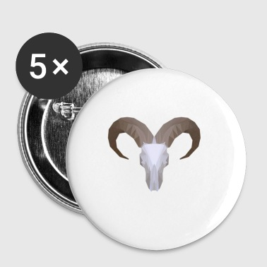 Low Poly Aoudad Skull - Small Buttons