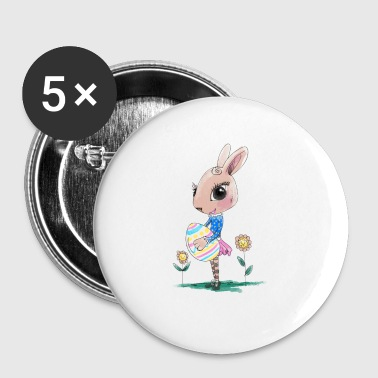 Sketched Easter Bunny, Cute Bunny Easter Bunny - Small Buttons