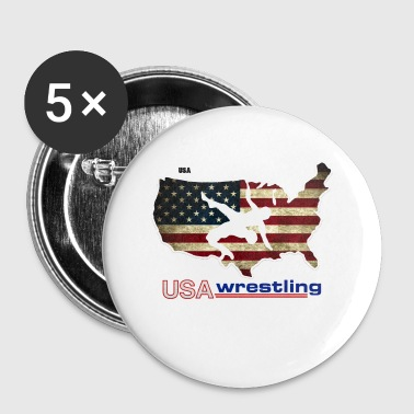 USA Wrestling - Small Buttons
