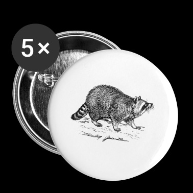 raccoon waschbaer baer baby26 - Small Buttons