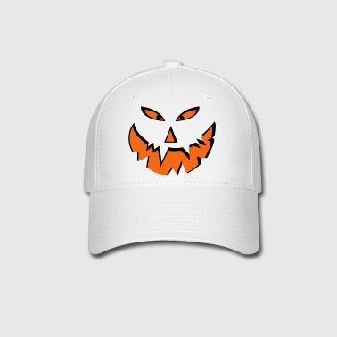Scary halloween pumpkin face - Baseball Cap