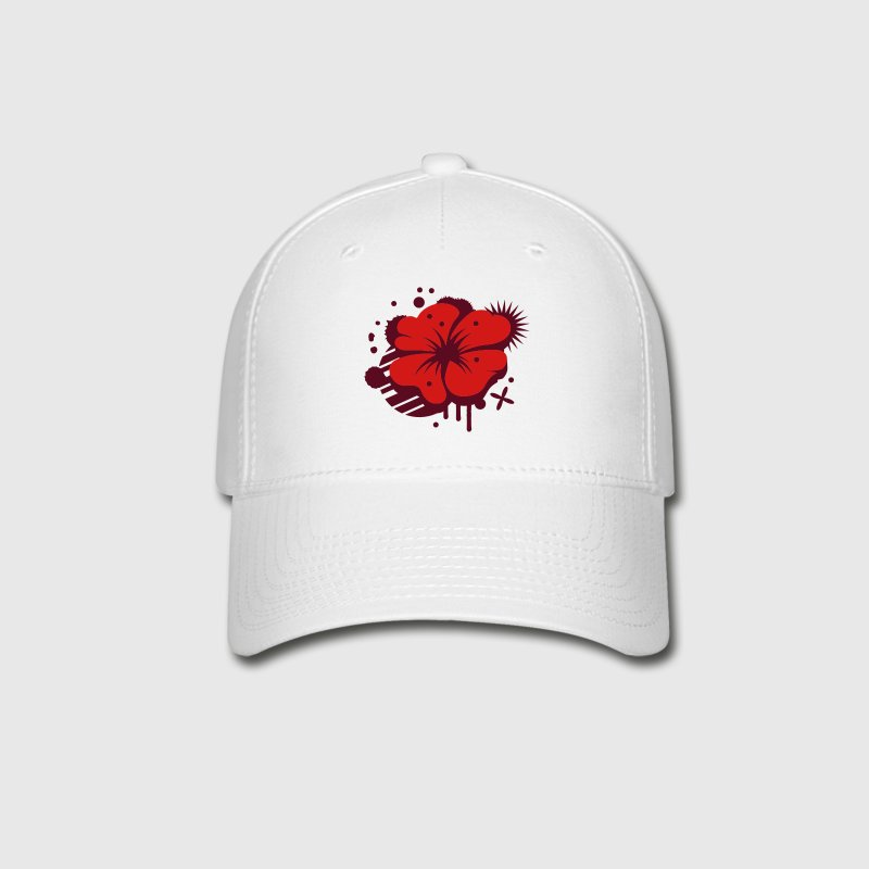 A poppy as a graffiti - Baseball Cap