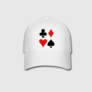 all four suits club diamond heart and spade poker design - Baseball Cap