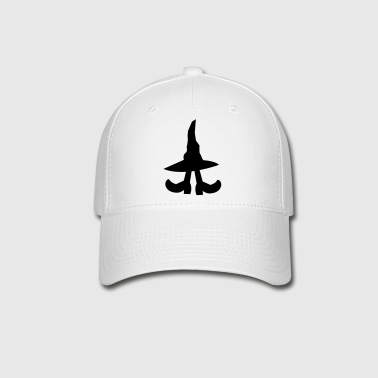 witch hiding under a witches hat - Baseball Cap