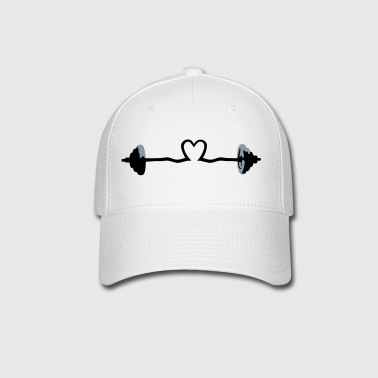 weightlifting - barbell and heart - Baseball Cap