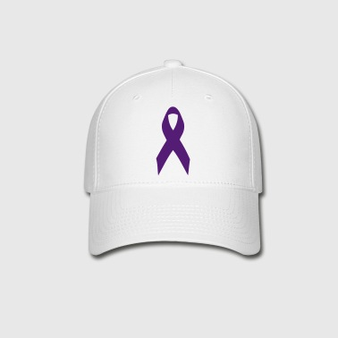 purple ribbon - Baseball Cap