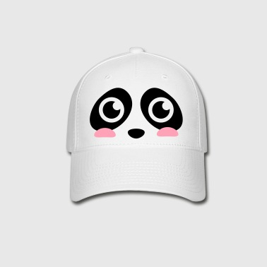 cute panda face with big eyes - Baseball Cap
