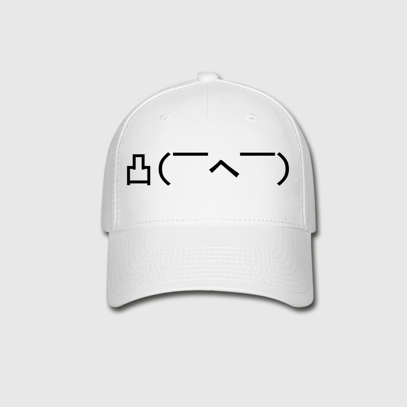 Angry Japanese Emoticon - Baseball Cap