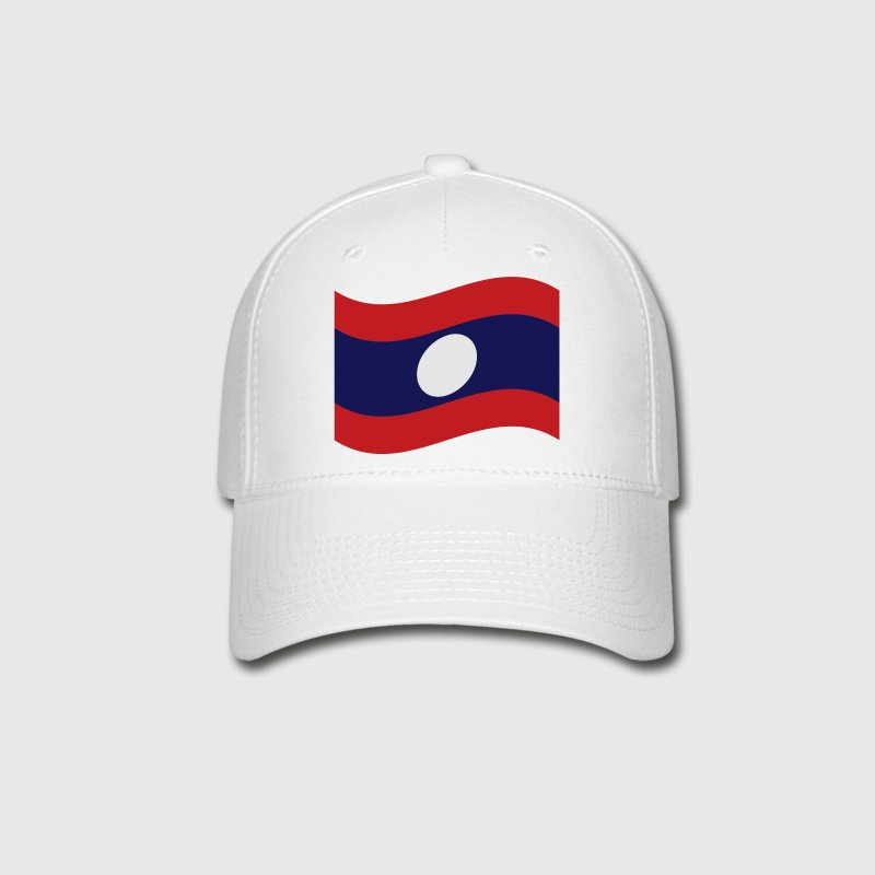 Laos / Lao Flag Wave - Baseball Cap