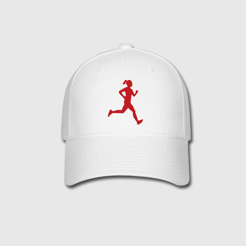 Girl Runner Silhouette - Baseball Cap