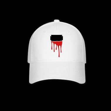 razor blade blood - Baseball Cap