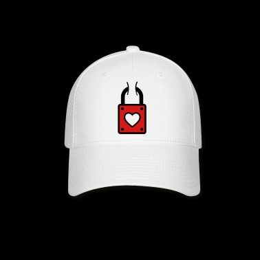 lock with heart - Baseball Cap