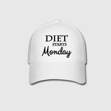 Diet starts monday - Baseball Cap