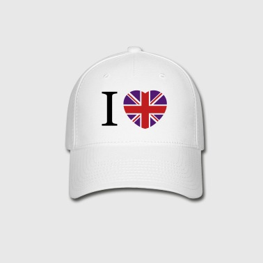I love UK flag and heart - Baseball Cap