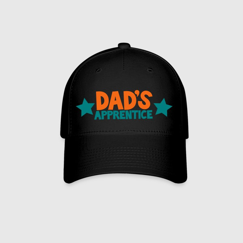 dad's apprentice with cute little stars working with daddy - Baseball Cap