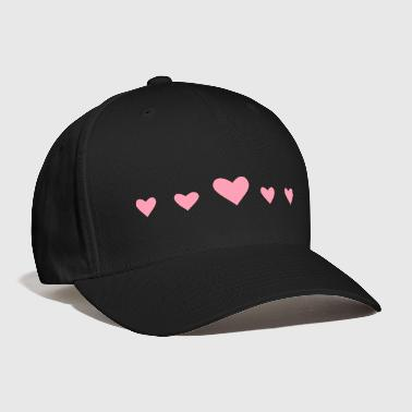 Hearts in a row - Baseball Cap