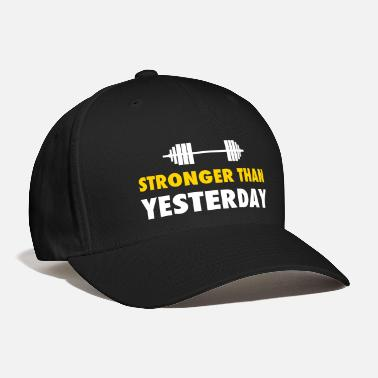 Funny Gym stronger than yesterday - Baseball Cap