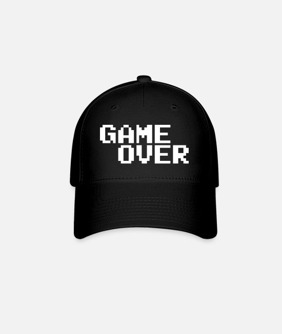 Video Game Caps & Hats - Game Over - Baseball Cap black