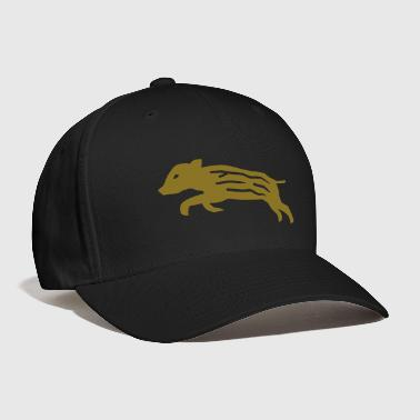 Hunting wild boar pig piglet baby youngster hog hunter hunting - Baseball Cap