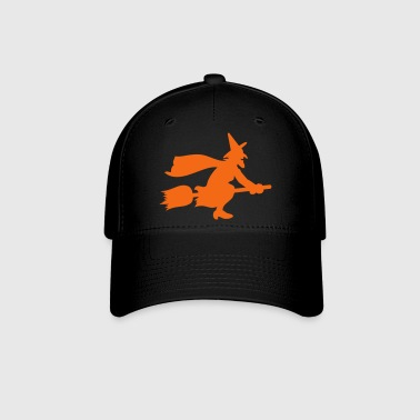 Witch on Broomstick VECTOR - Baseball Cap