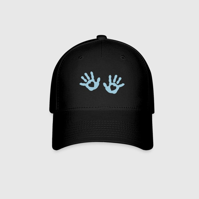 baby - hands - handprint - heart - Baseball Cap