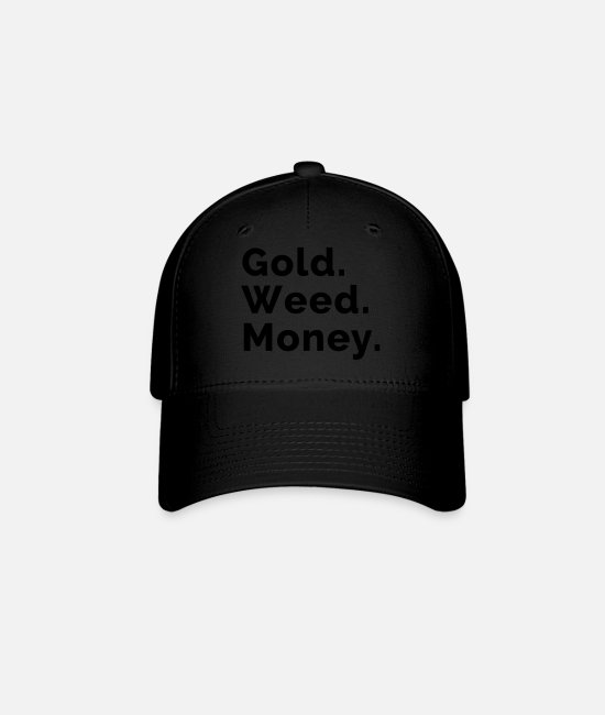 Drugs Caps & Hats - Gold. Weed. Money. - Baseball Cap black