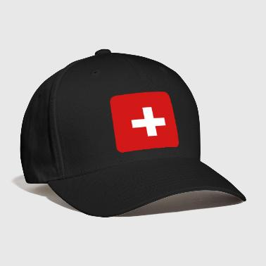 MEDIC white cross on a red button square rectangle - Baseball Cap