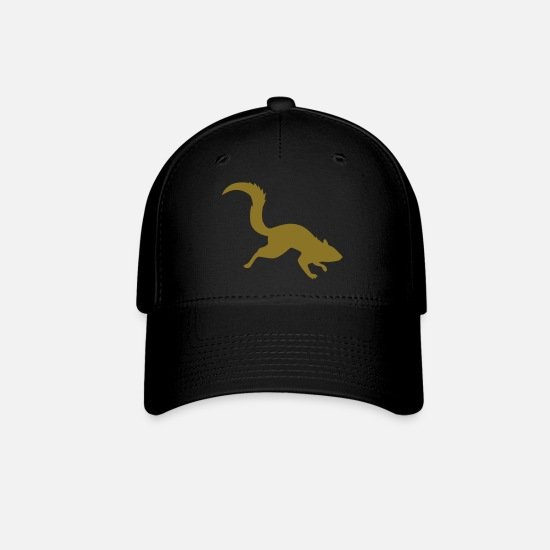 Squirrel Caps - squirrel vector - Baseball Cap black