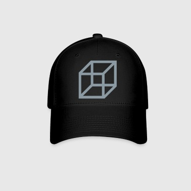 necker cube - reversible figure - Baseball Cap