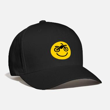 Motor Happy off the road motocross smiley - motorcycle 2 - Baseball Cap