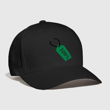 Price tag - hundred percent - Baseball Cap