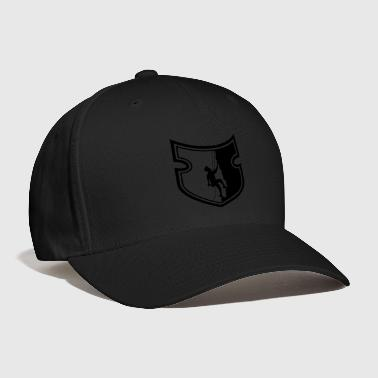 cool emblem shield steep wall mountaineer climbing - Baseball Cap