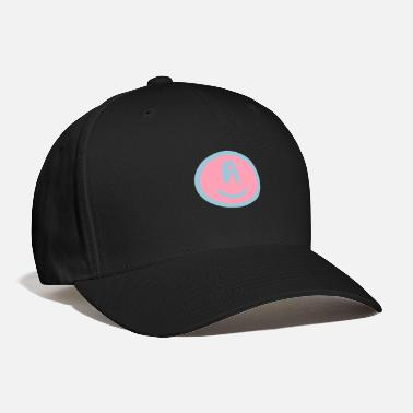 Happy Symbols Circles Smiley Quotes Philosophy ♥☺↷Funny Smiley Alphabet Initial Letter-A↶☺♥ - Baseball Cap