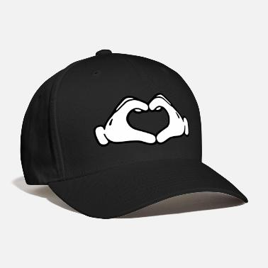 Mickey Heart Hands Mickey LOVE hands - Baseball Cap