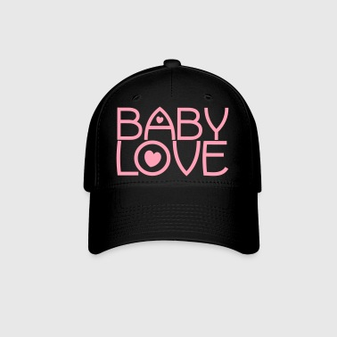 baby love cute font with love hearts lovely! - Baseball Cap