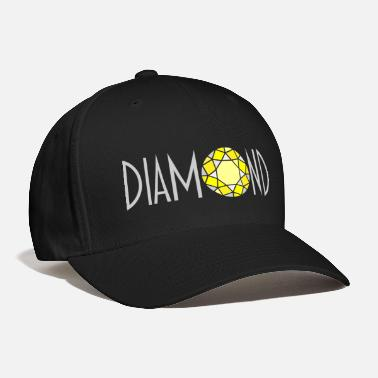 Brilliant cut yellow diamond - Baseball Cap