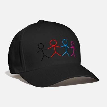 Stick Figure FRIENDLY STICK FIGURE FAMILY - Baseball Cap