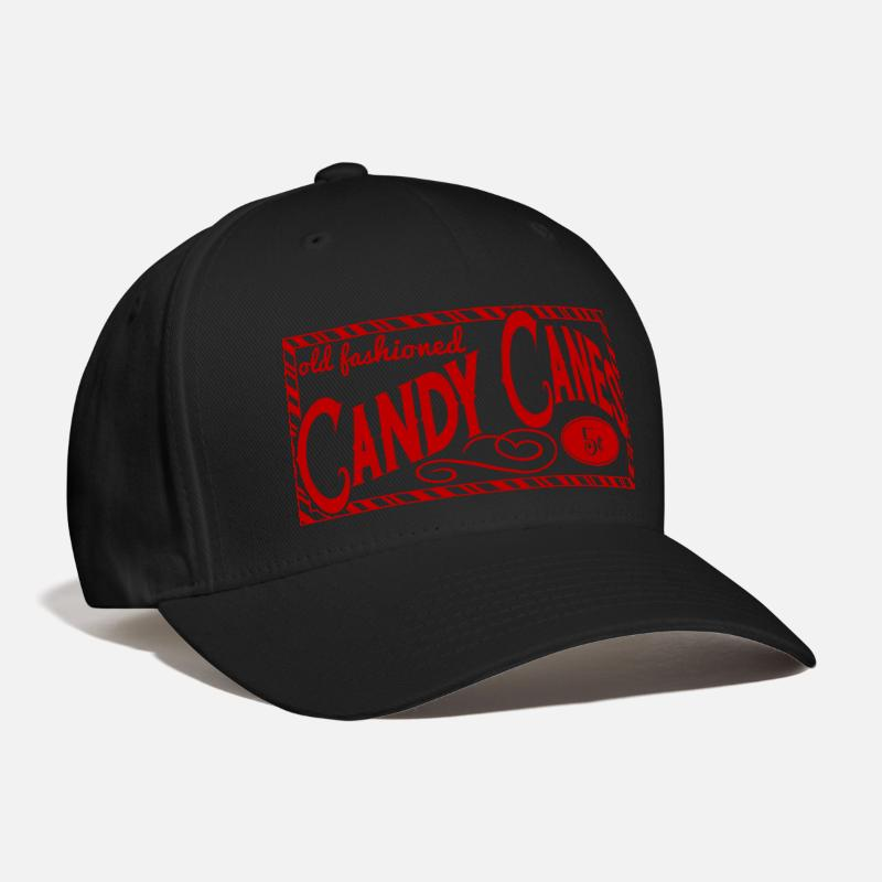 Candy Cane Caps - old fashioned candy canes - Baseball Cap black d5f27c90d8e