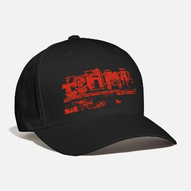 Vienna Graffiti wall in red (Vienna Style) - Baseball Cap