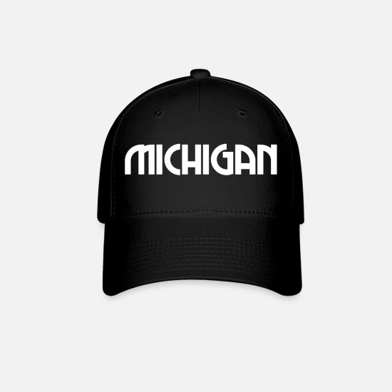 State Capital Caps - Michigan - Detroit - US State - United States - Baseball Cap black
