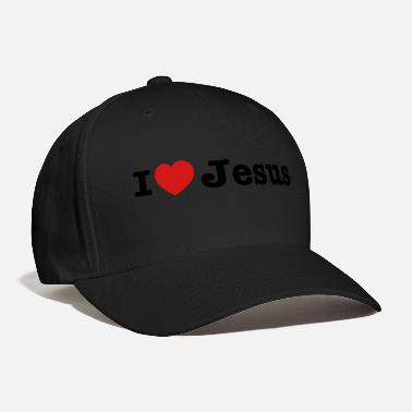 Love I heart Jesus wide - Baseball Cap