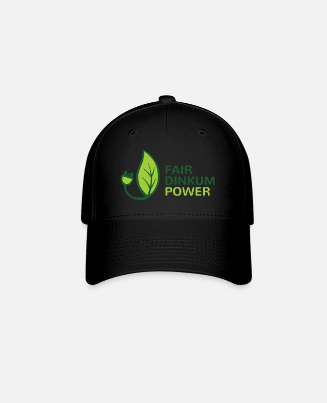 Science Fair Caps & Hats - Fair Dinkum Power swag - Baseball Cap black