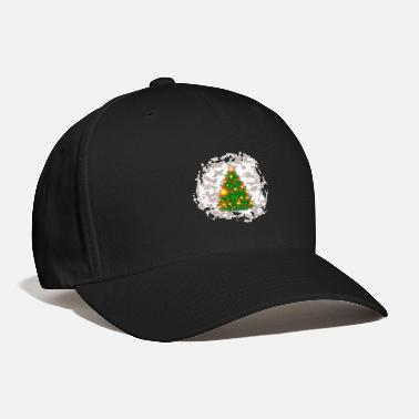 Snowball Christmas tree with snowball - Baseball Cap