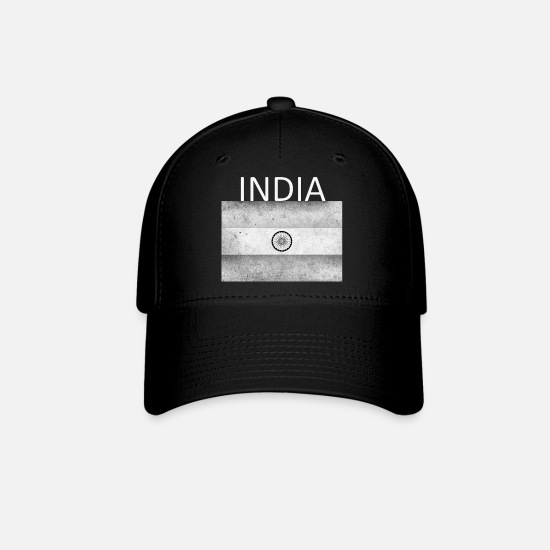 Himalaya Caps - India Flag - Art Design - Baseball Cap black