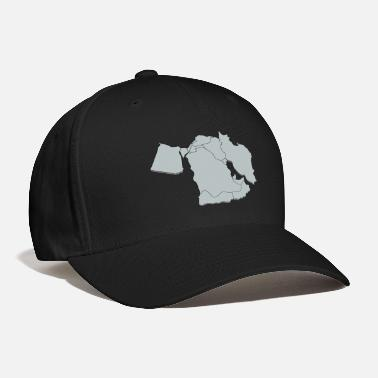 East 3D middle east map - Baseball Cap