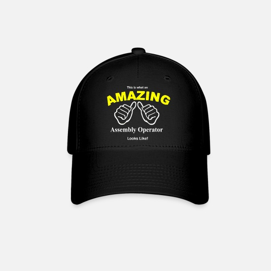 Assembler Caps - Amazing Assembly Operator Looks Like - Baseball Cap black