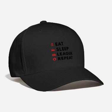 League Of Legends League Of Legends Eat Sleep League Repeat - Baseball Cap